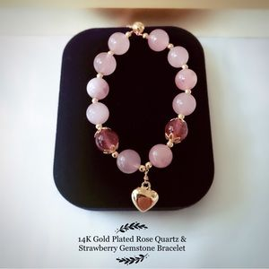 Strawberry Gemstone &Rose Quartz G…